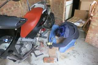 Remeber that rear caliper ordeal? All just to change brake pads...