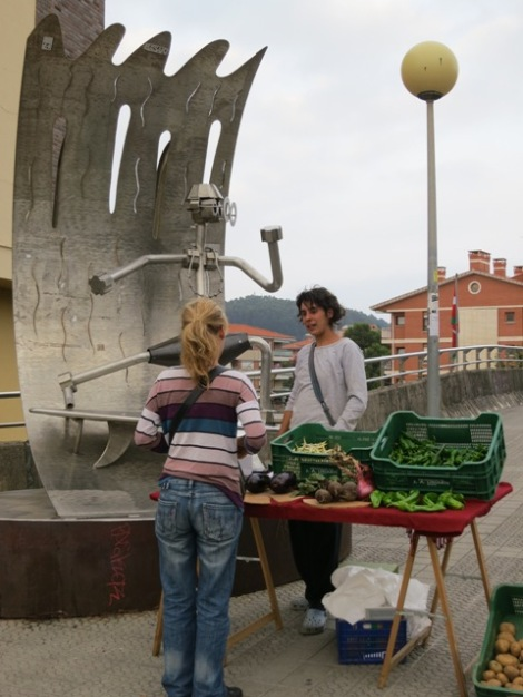Pop-Up Market stall on the way to the station in Sopelana