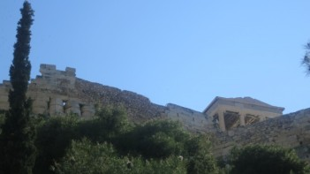 First glimpse of the Acropolis