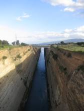Corinth canal; an amazing bit of engineering and the main reason for our trip out of Athens