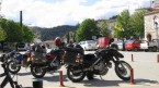 Elassona; The girls parked in the centre of a three way junction Greek style :)