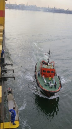 the pilot boat comes to fetch their man