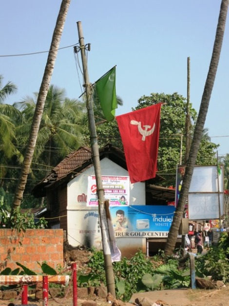 Communism is much supported here in South India