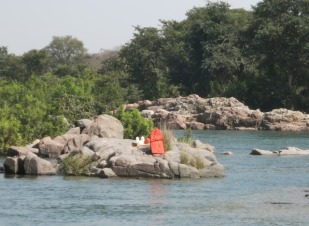 Of course someone has put a Shrine in the middle of the River