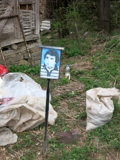 When someone dies in Bulgaria they post photos like these outside the house where they lived
