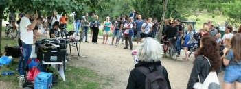 random band in Mauerpark.... there is always someone playing music there