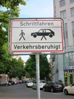 reduced traffic zone... please carry your car ;)