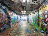 Designated graffiti tunnel at Sydney University